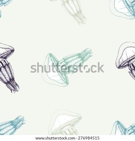 Jellyfish Tattoo Sketch Jellyfish Sketch Vintage