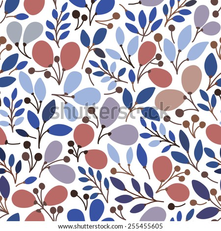 Vector seamless pattern with leaves. It can be used for desktop wallpaper or frame for a wall hanging or poster,for pattern fills, surface textures, web page backgrounds, textile and more.  - stock vector