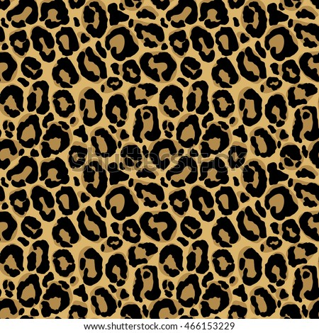 vector seamless pattern with leopard fur texture repeating leopard fur background for textile design