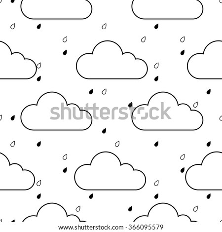 Raindrops Falling From The Sky Clipart