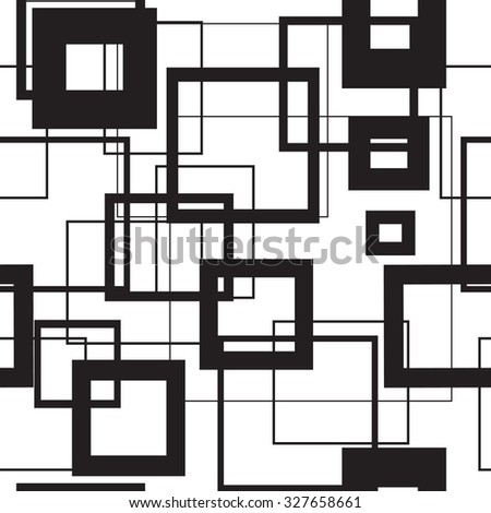 Vector seamless pattern with repeating squares. Regular hipster background. Minimalistic ornament