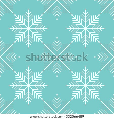 Vector seamless pattern with snowflakes. Winter background. - stock vector