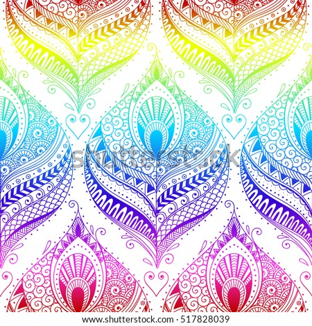 vector abstract peacock seamless - photo #44