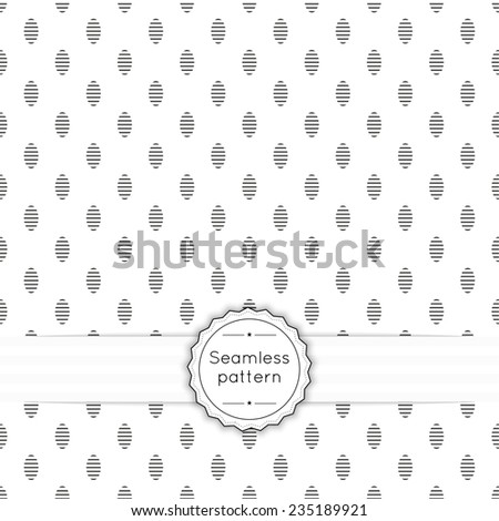 Vector seamless pattern with vintage old banner and ribbon. Repeating geometric shapes, oval, line - stock vector