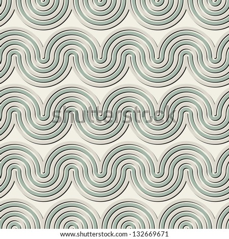 Vector seamless pattern with wavy stripes. Modern geometric texture. Repeating pastel background