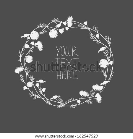 Vector seamless pattern with white flowers  - stock vector