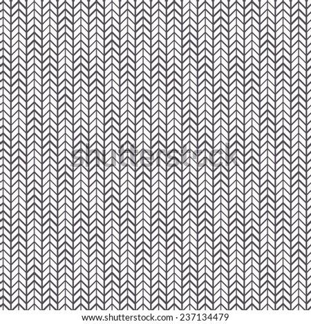 Vector seamless pattern. Zigzag monochrome stripes. Chevron regular grid - stock vector