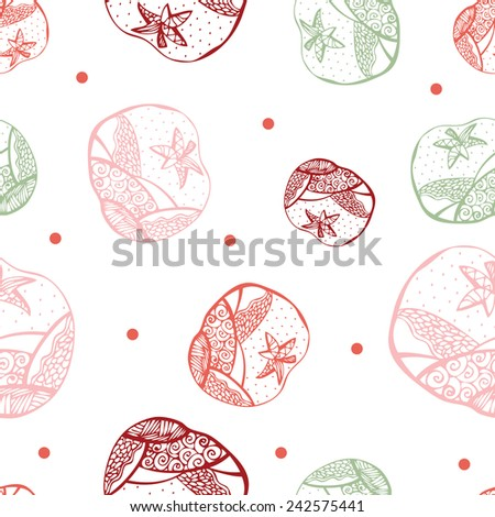vector seamless Red tomato  pattern. background. - stock vector