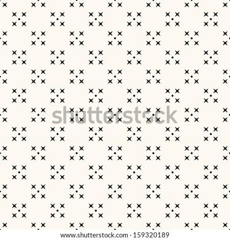 Vector seamless retro pattern, polka dot with rhombus - stock vector