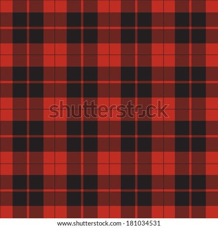 vector seamless retro red squared fabric, background - stock vector