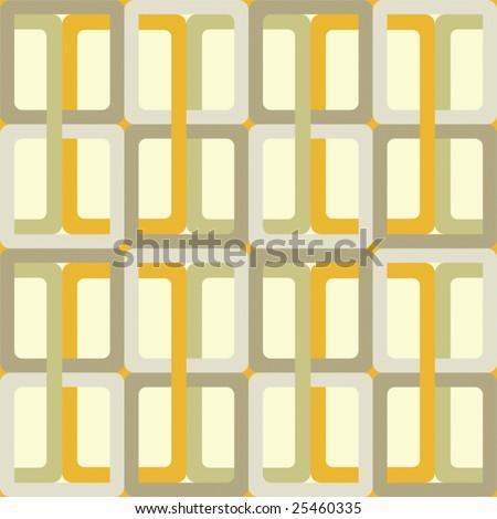 Vector Seamless Seventies Style Inspired Wallpaper - stock vector