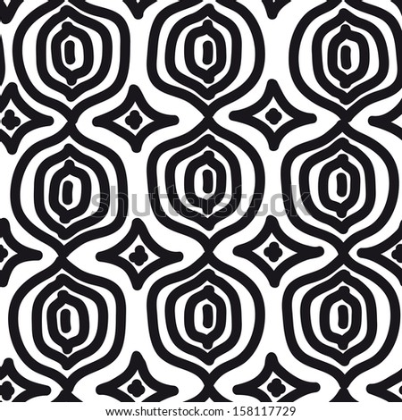 Vector seamless simple pattern. Curtain design. Modern stylish texture. Repeating abstract background.  - stock vector