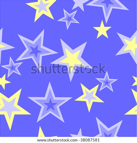 Vector. Seamless star ornament  in color 40. More seamless see in portfolio