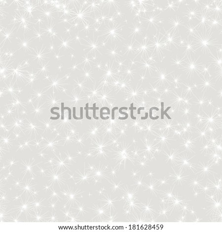 Vector seamless stars pattern. - stock vector