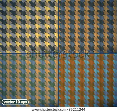 vector seamless tablecloth pattern set - stock vector