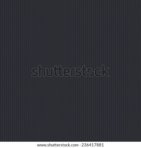 Vector seamless template with wavy subtle patterns on dark background. - stock vector