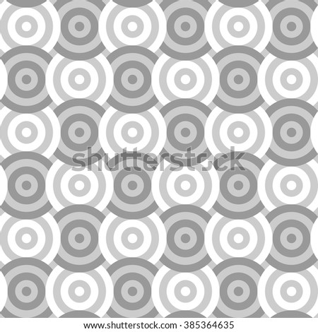 Vector seamless texture. Modern geometric background. Abstract pattern of repetitive concentric circles.