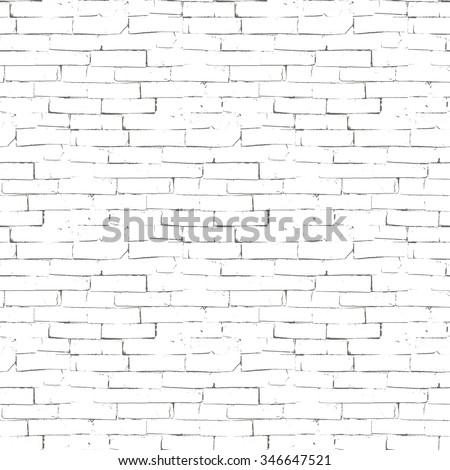 Vector seamless texture of brick wall - stock vector