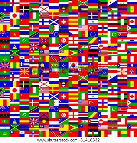 Vector seamless texture of flags