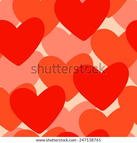 Vector seamless very simple, but elegant Valentine's Day pattern with hearts - stock vector
