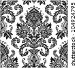Vector Seamless Victorian Pattern. Swatch included. Easy to edit.. - stock vector