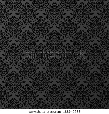 vector seamless wallpaper. damask pattern. flower background