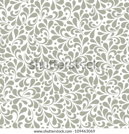 Vector seamless wallpaper pattern - stock vector