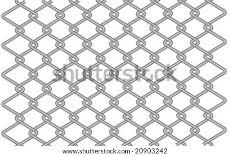 vector seamless wire fence - stock vector