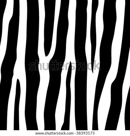 vector seamless zebra pattern - stock vector