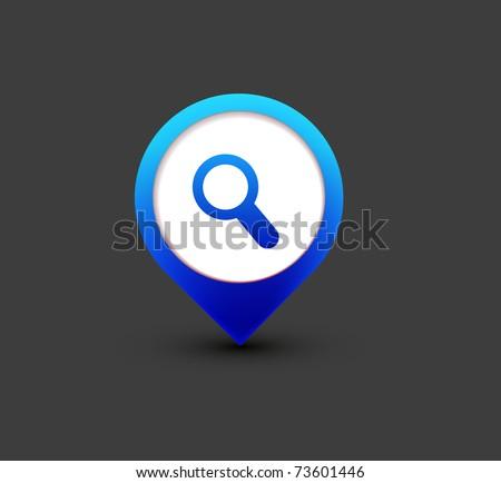vector search icon web design element. - stock vector