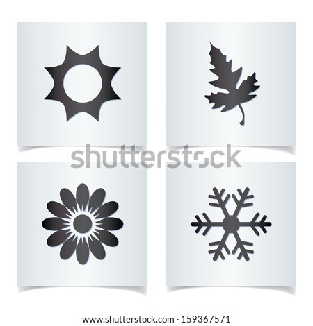 Vector season icons. - stock vector