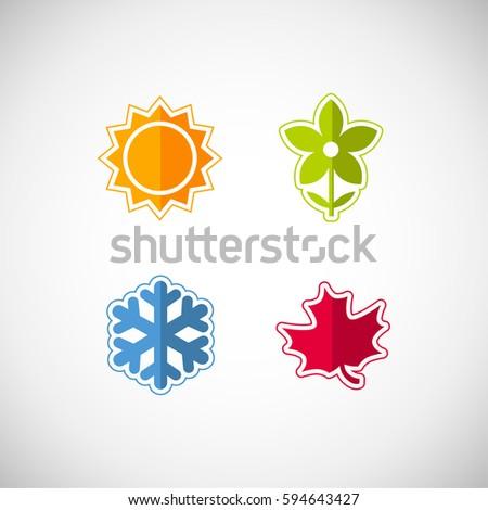 vector season icons four seasons icon stock vector