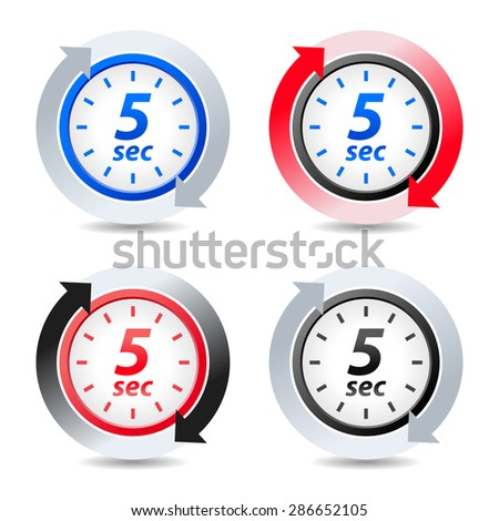 Vector 5 seconds - stock vector