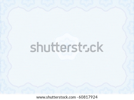 VECTOR SECURE background BLANK CERTIFICATE - stock vector