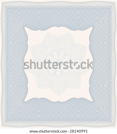 vector secure blank certificate background - stock vector