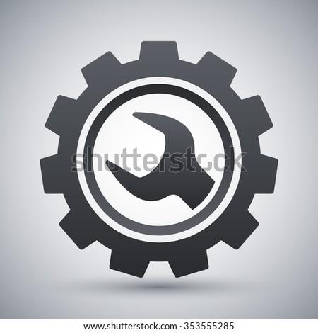 Vector service icon - stock vector