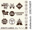 Vector Set: Boy Scouts Merit Badge Labels - stock vector
