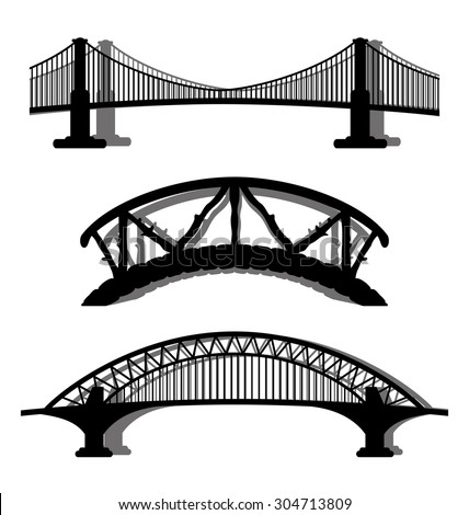 Vector set. Bridges.