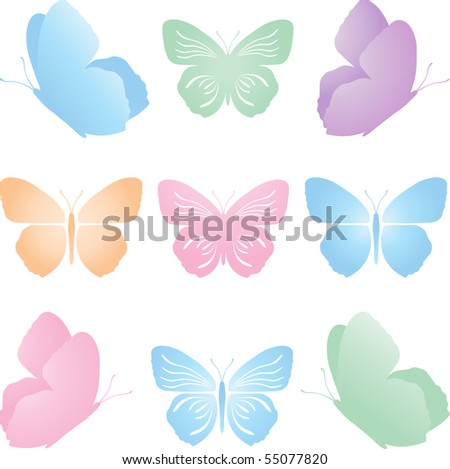 vector set butterfly