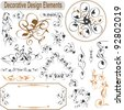 Vector set calligraphic design elements and page decoration - stock vector
