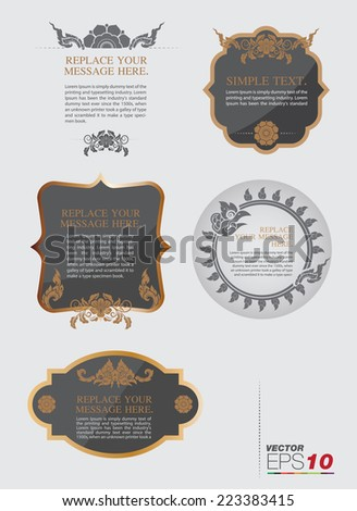 vector set: calligraphic design elements and page decoration - lots of useful elements to embellish your layout and thai art elements - stock vector