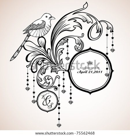 vector set: calligraphic design elements and page decoration - useful elements to embellish your layout - stock vector