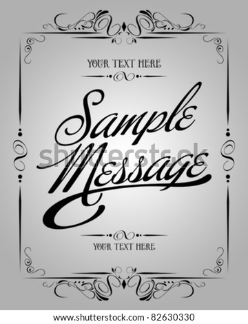 Vector set Calligraphic element : Page Decorative - stock vector