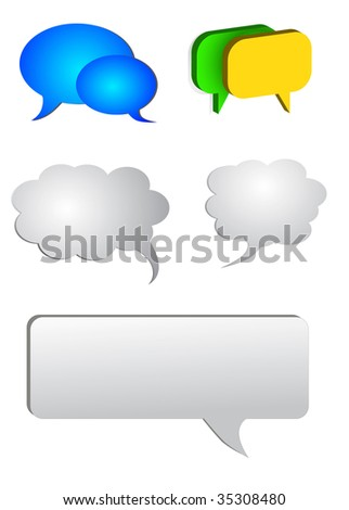 vector set colored chat boxes