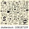 Vector set - doodle - stock vector