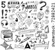 vector set - doodles - science - stock photo