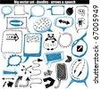 vector set - doodles - speech & arrows - stock photo