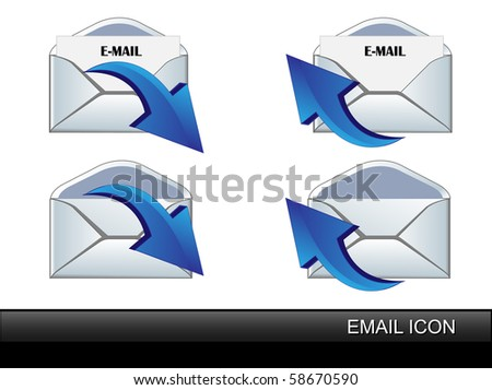 Vector set E-Mail icon.