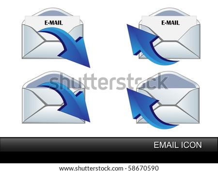 Vector set E-Mail icon. - stock vector