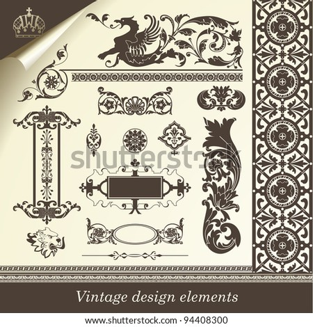 vector set elements of useful  to embellish your layout - stock vector
